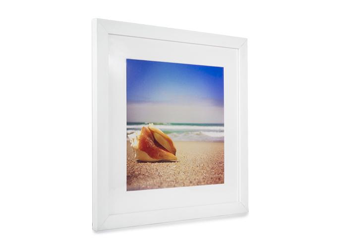 white frame image