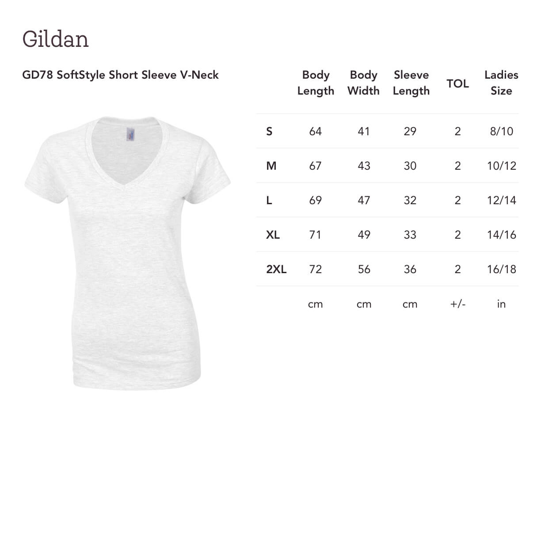 Print On Demand Gildan Gd78 Softstyle Short Sleeve V Neck Gooten