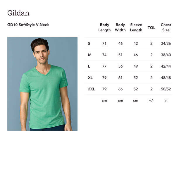 7887409a This mitred V-neck, tubular knit tee comes with taped shoulders and neck,  and double-needle hem and sleeves. Start Selling Gildan GD10 Unisex  SoftStyle ...