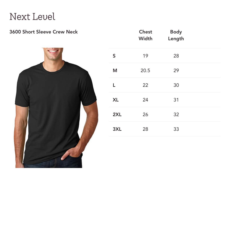 Print On Demand Next Level 3600 Short Sleeve Crew Neck Gooten
